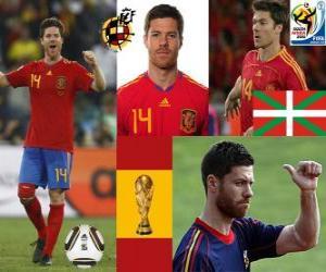 Puzzle Xabi Alonso (Poumon) milieu de terrain de l'équipe nationale Espagnol