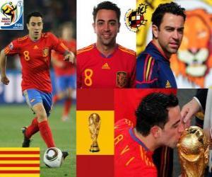 Puzzle Xavi Hernandez (Le témoin) milieu de terrain de l'équipe nationale Espagnol