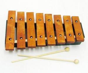 Puzzle Xylophone, instrument musical de percussion