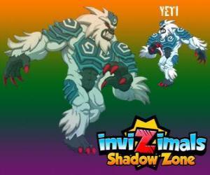 Puzzle Yeti. Invizimals Shadow Zone. Les puissants yétis vivent cachés dans les plus hauts sommets de l'Himalaya