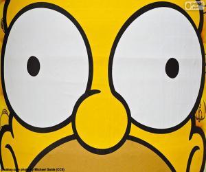 Puzzle Yeux de Homer Simpson