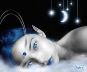 Puzzle Yeux fée bleue