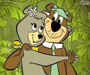 Puzzle Yogi et Cindy, deux amoureux ours dans les Jellystone Park