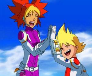 Puzzle Yoko et Brett pour leur combinaison spatiale, ce sont deux des membres du Team Galaxy