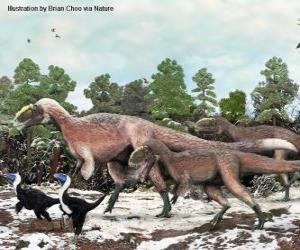 Puzzle Yutyrannus avec près de 9 mètres de longueur est le plus grand dinosaure à plumes connu
