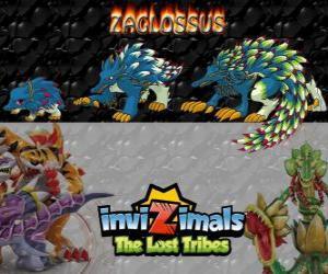 Puzzle Zaglossus, dernière évolution. Invizimals The Lost Tribes. Invizimal ressemble à un porc-épic