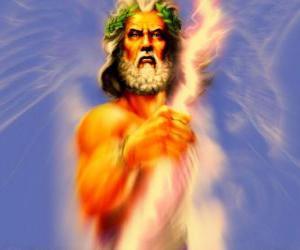 Puzzle Zeus, le dieu grec du ciel et le tonnerre et le roi des dieux olympiques