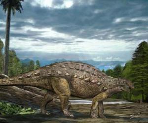 Puzzle Zhejiangosaurus vivait il y a environ 100 à 94 millions d'années