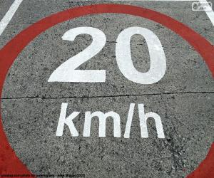 Puzzle Zone limitée à 20 km/h