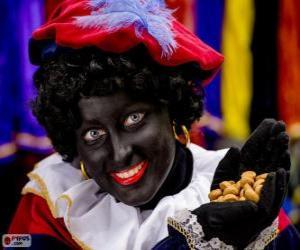 Puzzle Zwarte Piet, Pierre le Noir, l'adjoint de Saint-Nicolas aux Pays-Bas et en Belgique
