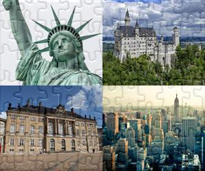 Puzzles de Maisons, Villes et Monuments