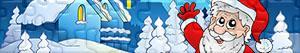 Puzzles de Père Noël, rennes et lutins